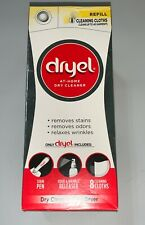 NEW Dryel At Home Dry Cleaner Refill Kit 8 Dryer Activated Cleaning Cloths