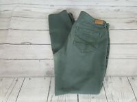 Aeropostale Green Wash High Waisted Jegging Skinny Fit Women Jeans Size 8 Reg