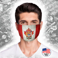 Canada Flag Royal Face Mask with Heraldry-Washable,reusable,soft -Free shipping