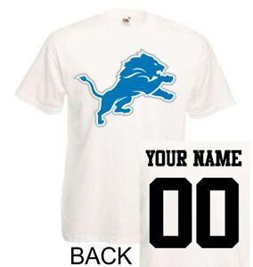 Detroit Lions shirt tee jersey custom name number kid men lady