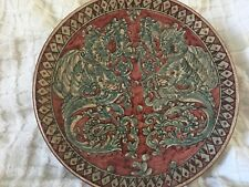 """Vintage Biagioli Gubbio Italy #40 Wall Plate Hand painted (Majolica) & Signed 9"""""""