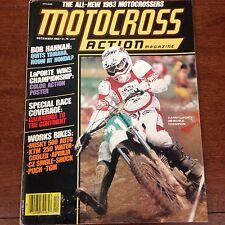 DECEMBER 1982  MOTOCROSS ACTION HUSQVARNA 4 STROKE 250cc GP 125 250 YZ  VINTAGE