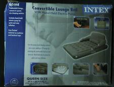 Intex Convertible Lounge Queen Bed Kit Air Mattress with External Pump NEW