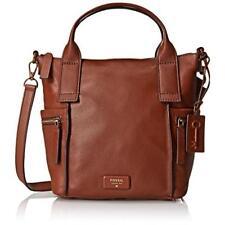 Fossil 5576 Womens Emerson Brown Leather Satchel Handbag Purse Medium BHFO