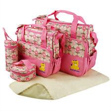 Multi Function Baby Pad Diaper Nappy Changing Tote Handbag Mummy Mother Bag 5pcs