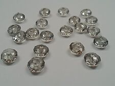 50 Transparent Acrylic Beads, Faceted Abacus,Gray, 8mm, Hole1.5 mm