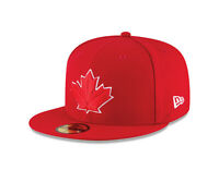 New Era 59Fifty Men MLB Cap Toronto Blue Jays 2017 Alt 2 On Field Fitted Hat Red