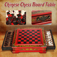 Antique Terra-Cotta Warriors Chess Set Wooden Chess Board Chess Gifts Sets 26cm