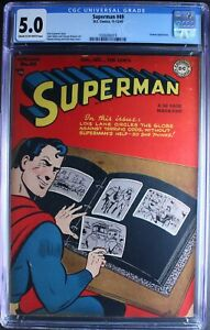 SUPERMAN  # 49  Awesome GOLDEN AGE! NICE!   CGC 5.0 0306006019