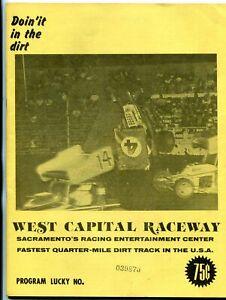 West Capital Raceway Auto Race Program --1977