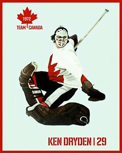 Ken Dryden - 1972 Canada- Russia Summit Series Poster - 8x10 Color Photo