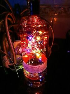 Gin bottle Whitley Neill Raspberry + LED Lights XMAS NEW - 70cl Upcycle EMPTY