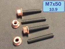 10 St. Stehbolzen M7x50 ,10.9 , hochfest + Kupfermutter M7 für BMW Zylinderkopf