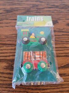 Maxim Enterprises Magnet Wooden Trains Toys / Set Of Two