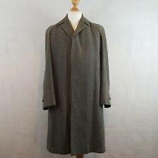 Dhobi Maincoat Mens Coat Green Mix Size 40 Wool Tweed Showerproof Lined Vintage