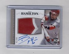 BILLY HAMILTON 2014 NATIONAL TREASURES 3 COLOR PATCH AUTO RC #41/99 REDS