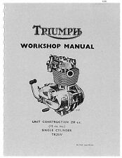 Triumph Workshop Manual 1968, 1969 & 1970 Trophy 250 TR25W