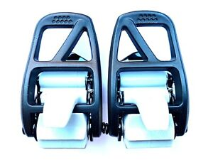 Nitro Snowboard Bindings Alu Ankle Ratchets / Buckles Replacement in Black Grey