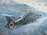 LHX TANK ATTACK MISSION Art Print by Keith Ferris ASAA Boeing Sikorsky Aviation