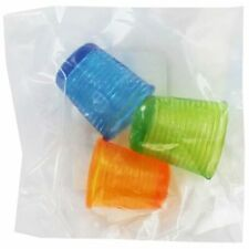 CraftyThings PVC-Free Rubber Thimbles - Set Of 3 Sizes In Assorted Colours