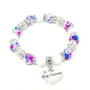 Cerise Sister Mum Family Charm Birthday Christmas Charm Bracelet Free Gift Bag