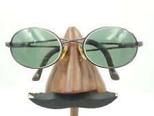 Vintage Vogue Vo3235/S Gunmetal Black Oval Eyeglasses Sunglasses Frames Italy