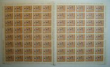 1964 ITALIA 15 lire Giornata del Francobollo  foglio doppio intero MNH**