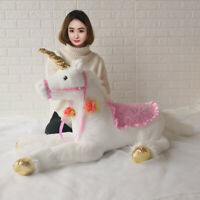 "Soft Giant Plush Jumbo Large White Unicorn Toy Stuffed Animal Doll 33.5"" / 85 cm"