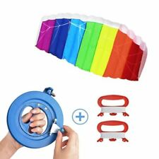 Lenkdrachen Lenkmatten Regenbogen Drachen Ripstop-Nylon mit drei Drachenschnur