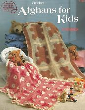 Afghans for Kids Crochet Pattern Booklet American School of Needlework ASN 1199