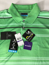 NEW Men's PGA TOUR Golf Shirt Size XXL SS Tennis Polo Green Stripe MSRP $55