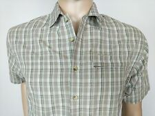 Berghaus Mens Shirt Odyssey Short Sleeve Gingham Check Size Small S Chest 40 New