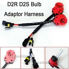 2 Pcs D2S D2R D2C HID Bulbs Ballasts Converters Socket Adapters Harness Wire