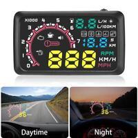 """5.5"""" Auto Tachometer Universal HUD Digital Head Up Display Geschwindigkeit Warn"""