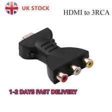HDMI Male to 3 RCA Female Composite AV Audio Video Adapter Converter -For TV UK
