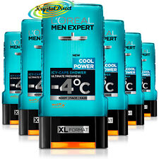 6x Loreal Men Expert Shower Gel Cool Power, Icy Caps, Ultimate Freshness 300ml