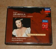 STRAUSS arabella DELLA CASA*LONDON*GUEDEN*SOLTI 1992 DECCA GERMAN 2-CD + BOOKLET