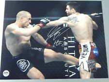 GEORGES ST-PIERRE 8 X 10  2 PHOTOS SIGNED AUTO LOT UFC WITH COA + INSCRIBED