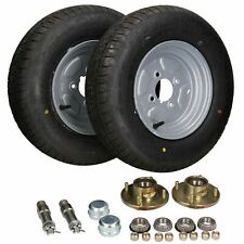 "2 Pack Trailer Trolley Wheel Hubs, Wheels & Stub Axles 10"" 145 R10 750kg"