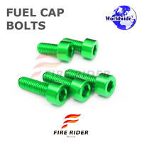 FRW Green Fuel Cap Bolts Set For Kawasaki ZX-14R Ninja 06-16 07 08 09 10 11 12