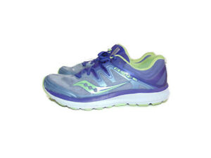 Saucony Sneakers Purple Green Guide ISO Road Running Training Womens Size 9