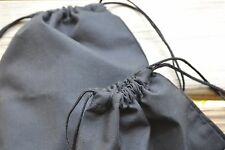 12 x 18 Inches Double Drawstring Muslin Bag. Black Color High Quality Bags. - 50