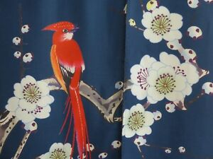 "Japanese 55"" x 33"" Noren Curtain w/ Bird on Plum Tree Tapestry Doorway Divider"
