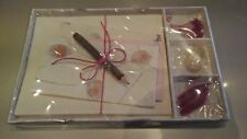 Handmade Paper Writing Stationery Set *UNIQUE GIFT SET* Lovely Gift Idea - Pink2
