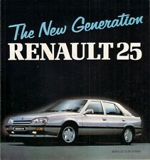 Renault 25 1988-89 UK Market Launch Foldout Brochure GTS TX GTX V6i V6 Turbo