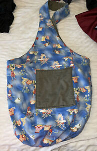 Rare  Canvas Laundry Bag Moonalee Reversible I Used As A Baby Nappy Bag