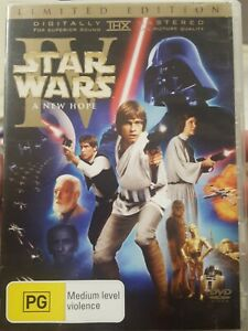 STAR WARS IV RARE DVD A NEW HOPE ORIGINAL THEATRICAL VERSION LIMITED EDITION