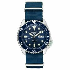 Seiko Men's Blue Nylon NATO Strap Dive Watch - SRPD87, new with tag and box