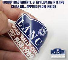 1 ADESIVO  lancia delta HF INTEGRALE 16v WORLD RALLY CHAMPION 1990