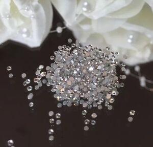 50 Swarovski Clear Crystals. Amazing Shine Promised. Nail Art Decor 1.8mm